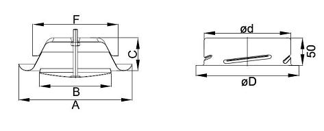 Размери: Смукателен дифузор DVS