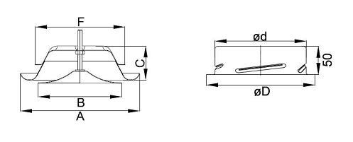 Размери: Нагнетателен дифузор P-DVS