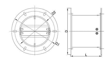 Размери: Обратна клапа ATS